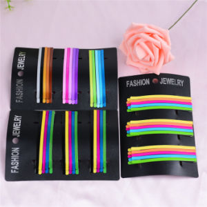 15 Pieces Card Packed Colorful Painted Metal Bobby Pins (JE1014) pictures & photos