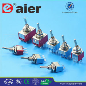 on-off 2-Way Mini Toggle Switch with Wire (KNS-1) pictures & photos