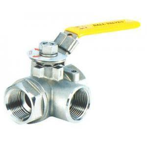 Stainless Steel Threaded End Three-Way Ball Valve pictures & photos
