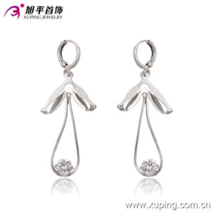 Fashion Luxury CZ Crystal Rural Style Silver Jewelry Earring Eardrops for Wedding or Party - 20875 pictures & photos