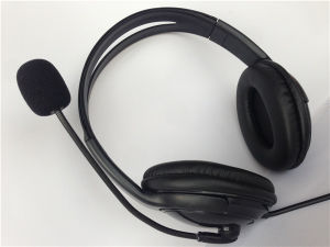 Call Center USB Headset with Microphone and Volume Control pictures & photos