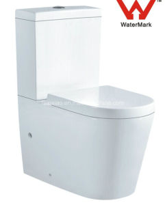 Contemporary Style Australian Standard Sanitary Ware Watermark Bathroom Washdown Two Piece Ceramic Washdown Toilet (563) pictures & photos