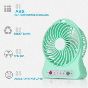 Mini LED Operated Desk Air Cooler Portable Rechargeable USB Fan pictures & photos