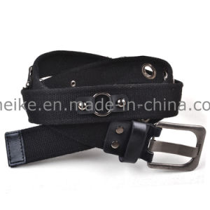 New Fashion Striped Design Men Woven Polyester Cotton Belt pictures & photos