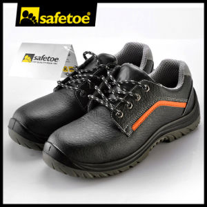 Embossed Leather Safety Shoes for Workers L-7199