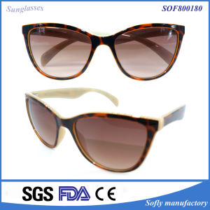 Fancy Designer Shades Brown Lens Plain Cat Eye Glasses pictures & photos