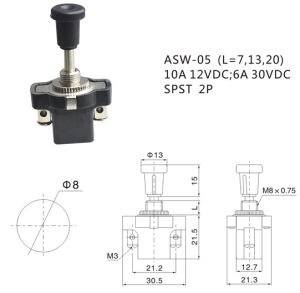 Auto Push Pull Switch 10A Spst Switch (ASW-05) pictures & photos