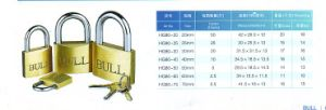 Hg80-20 Middle Type Brass Padlock pictures & photos