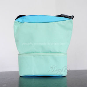 Two Layer Travel Ice Cooler Bags with Compartments pictures & photos