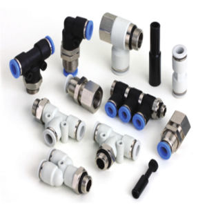 Pneumatic Fitting Manufacturer of Pll Type Shaped Two Lengthening Thread pictures & photos