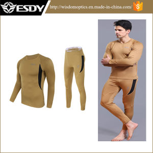 Tactical Outdoor Sports Thermal Mens Underwear Suits Esdy Same Model Underwear pictures & photos