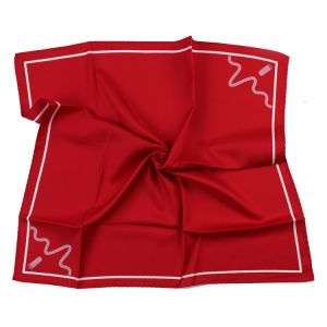 Bright Red Solid Square Silk Printed Scarf Custom Logo Bespoke Design (LS-38) pictures & photos