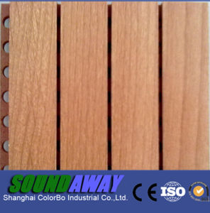 soundproof wooden grooved acoustic wall board for church