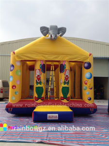 Cheap Pricee Lephant Theme Cheap Inflatable Bouncer, Inflatable Bounce House for Kids pictures & photos
