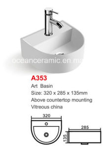 Ceramic Counter Basin (No. A353) Art Basin High Quality pictures & photos