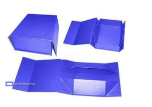 Handmade Folding Gift Box with Logo Hot Silver Foil pictures & photos