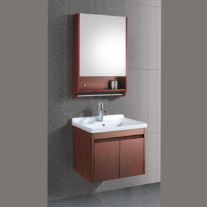 Modern Hotel Solid Wood Bathroom Cabinet (ADS-655) pictures & photos