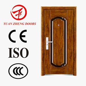 Top Supplier Safety Iron Wooden Main Door Design Made in China pictures & photos