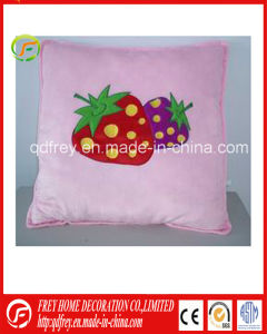 Hot Sale Plush Soft Square Cushion with Strawberry pictures & photos