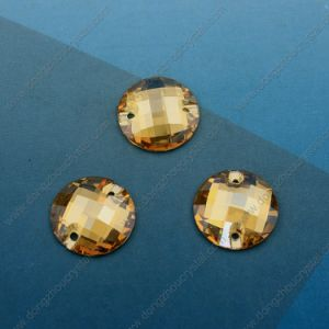 Round Loose Glass Stone Machine Cut for Wholesale (DZ-3043) pictures & photos