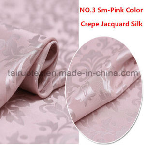 22mm Crepe Jacquard Silk Fabric with Reactive Printing pictures & photos