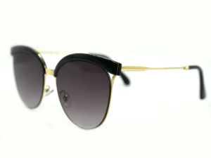 Women′s Retro Goggles Eyeglasses Metal Frame Sweet Round Sunglasses pictures & photos
