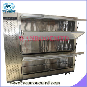 Ga302 Hot Sale Mortuary Freezer Corpse Refrigerator for 2 Bodies pictures & photos