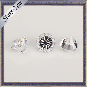 White Transparent Round Star Cut Heavy Weight CZ Gemstone pictures & photos