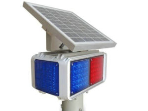 Four Sides Solar Traffic Flash Warning Light pictures & photos
