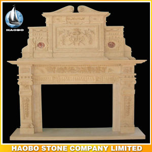 Quality Hand Carved Antique Design Fireplace Ornament Stone Custom Design pictures & photos