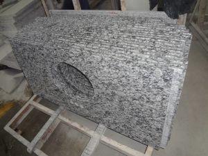 Spray White Granite Stone Countertop for Kitchen pictures & photos