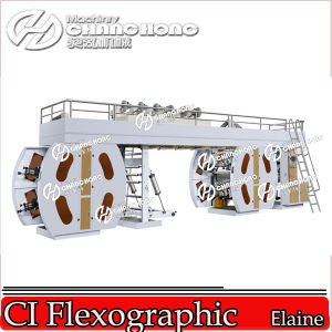 6 Colour High Speed Flexo Printing Machines with Central Drum/Diaper Bag Printing Machine pictures & photos