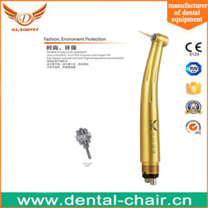 Luxury Gold Push Button LED E-Generator High Speed Handpiece pictures & photos
