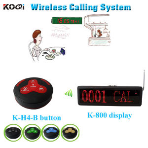 Restaurant Wireless Calling Service System with 4-Digit Number Display pictures & photos