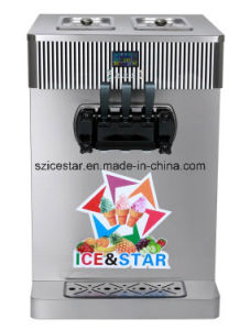 Table Model Double Cylinder Soft Ice Cream Machine/Double Color
