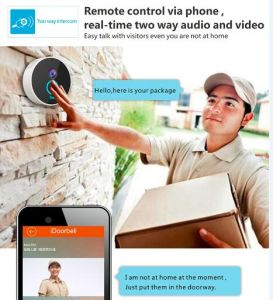 Smart Door Bell Camera WiFi Video Intercom Two Way by iPhone ISO Android Phone in Night Verison and Waterproof pictures & photos