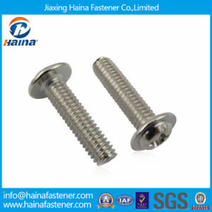 DIN967 Stainless Steel Cross Recessed Pan Head Machine Screws with Collar pictures & photos