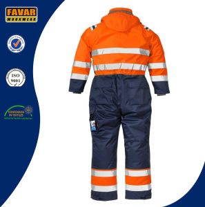 Cold Weather High Vis Protect Winter Insulated Coveralls for Men pictures & photos