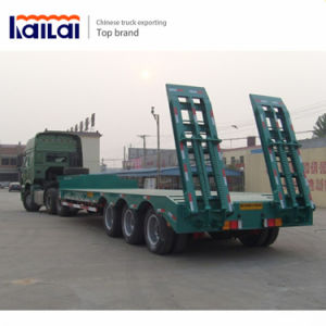 Cimc 3 Axles Trailer 80 Ton Low Bed Semi Trailer pictures & photos