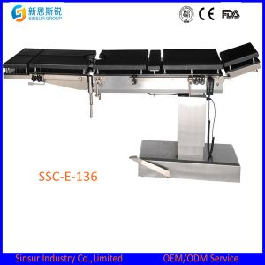 China Supply General Use Super Low Hospital Electric Operating Table pictures & photos