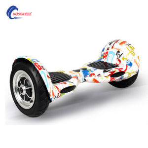 10 Inch Flame Color Two Big Wheel No Folding Self Balancing Scooter with Samsung Battery pictures & photos