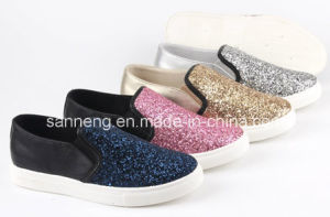 Summer Bling Classic Gliter / PU Injection Women Shoes (SNC-49046) pictures & photos