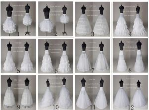 Stock Customized A Line/3hoop/6hoop/Hoopless/Short Long Crinoline Petticoat Underskirt P2016 pictures & photos