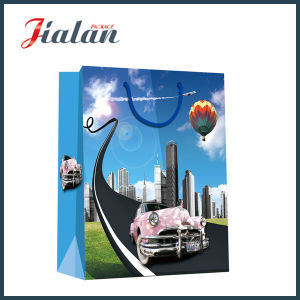 128GSM Glossy Laminated Art Paper Car Shopping Gift Paper Bag pictures & photos