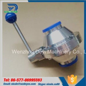 China Hot Sale Hygienic Butterfly Type Ball Valve pictures & photos