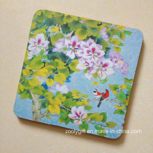 Paint Printing Wooden Cup Coaster / Promotional Square Shape Cork Placemat pictures & photos