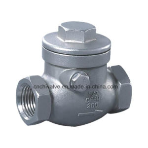 H14 Stainless Steel Thread Swing Check Valve pictures & photos