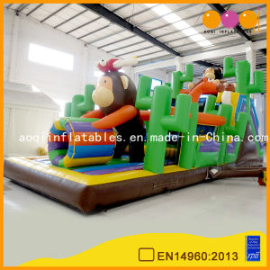 Funny Monkey Indoor Jumping Inflatable Play Spaces (AQ1338) pictures & photos