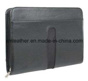 Genuine Leather A4 Portfolio Business Briefcase with Notepad pictures & photos