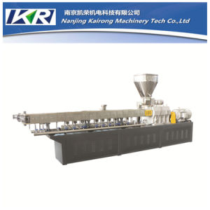 Starch Plastic Granules Parallel Twin Screw Extruder pictures & photos